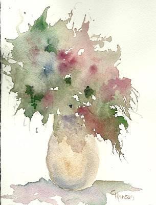 Wet-on-wet-technique Painting - Little Floral 2 by Claudia Hanson