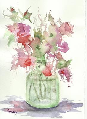 Wet-on-wet-technique Painting - Little Floral 6 by Claudia Hanson