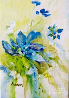 Painting - Little Flowers In My Garden by Donna Acheson-Juillet