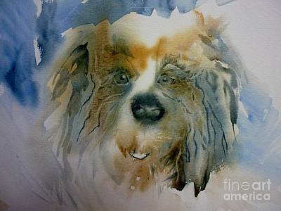 Painting - Little Fluffy Dog by Donna Acheson-Juillet