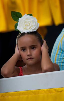 Photograph - Little Frida Kahlo ? Romeria Celebration In Torremolinos. Spain by Jenny Rainbow