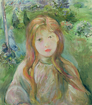 Lips Painting - Little Girl At Mesnil, 1892 by Berthe Morisot