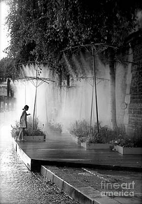 Photograph - Little Girl At Paris Plages II by Louise Fahy