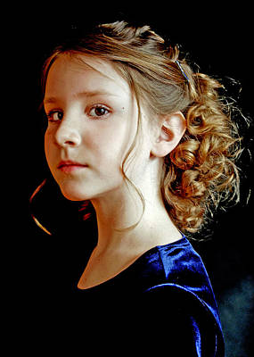 Photograph - Little Girl Blue by Jon Van Gilder