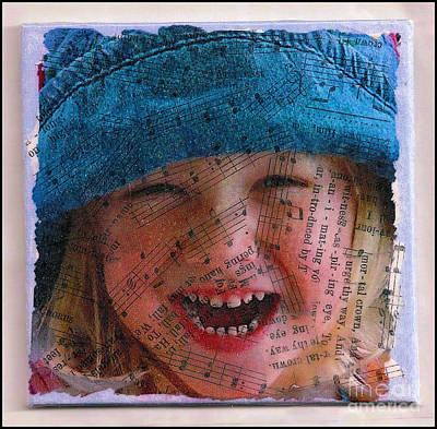 Mixed Media - Little Girl Blue by Ruby Cross