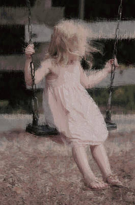 Priceless Photograph - Little Girl On Her Swing by The Art Of Marilyn Ridoutt-Greene