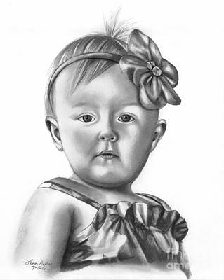 Drawing - Little Girl by Lena Auxier