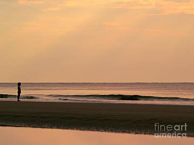 Photograph - Little Girl Meets Ocean - Hunting Island - South Carolina by Anna Lisa Yoder