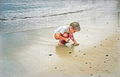 Photograph - Little Girl On The Beach by Hanny Heim