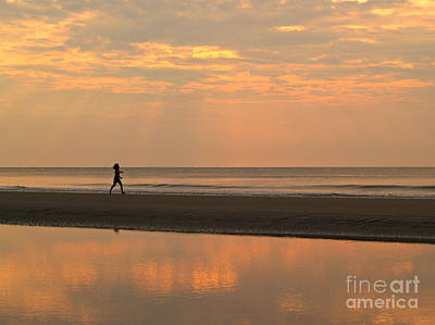 Photograph - Little Girl To The Sea - Hunting Island - South Carolina by Anna Lisa Yoder