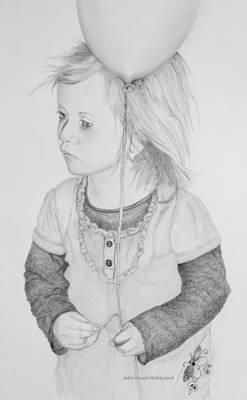 Little Girl With Balloon Art Print