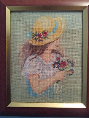 Little Girl With Yellow Hat Original