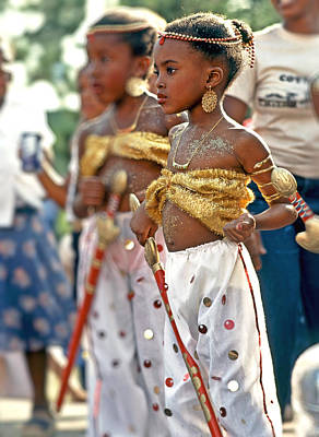 Photograph - Little Girls At Carnival # C by Stuart Brown
