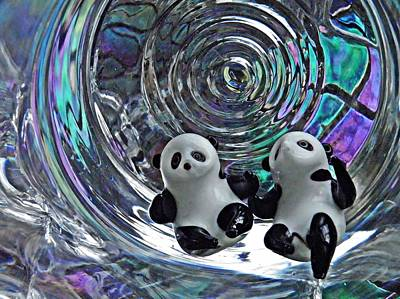 Photograph - Little Glass Pandas 11 by Sarah Loft