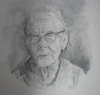 Drawing - Little Granny Smith by Gloria Turner