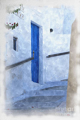 Little Greek Street Steps Art Print by Brian Raggatt