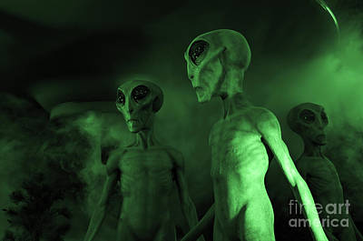 Photograph - Aliens And Ufo 6 by Bob Christopher