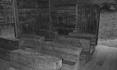 Tennesee Photograph - Little Greenbrier School In Black And White by Dan Sproul