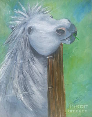 Painting - Little Grey Has An Itch by YoursByShores Isabella Shores