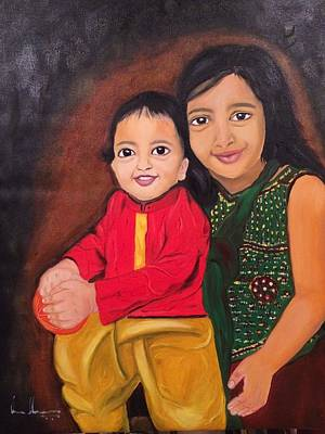 Painting - Little Hands by Brindha Naveen