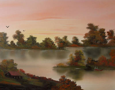 Painting - Little Haven At Sunset by Cynthia Adams
