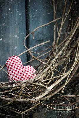 Photograph - Little Heart On Christmas Wreath by Sandra Cunningham