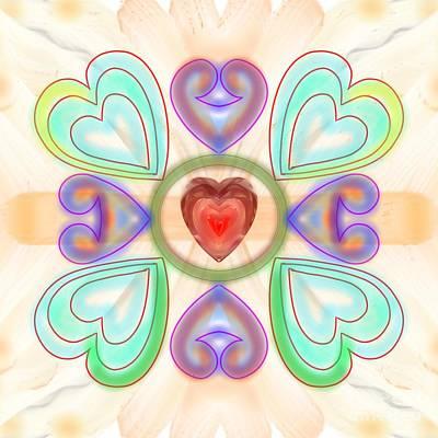 Digital Art - Little Hearts-2 by Pratyasha Nithin