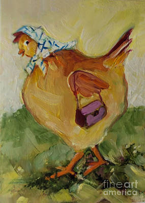 Painting - Little Hen by Diane Ursin