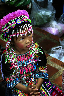 Photograph - Little Hill Tribe Girl by Rob Tullis
