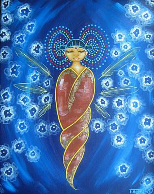 Chakra Rainbow Painting - Little Hopi Plant Spirit by Tiffany Aldridge