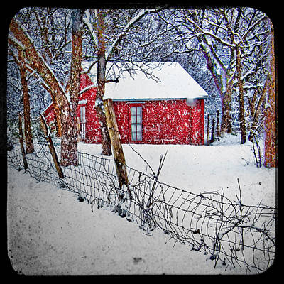 Photograph - Little House In The Snow by David and Carol Kelly