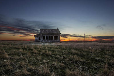 Prairie Sunset Photograph - Little House On The Prairie by Aaron J Groen
