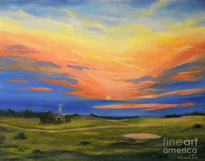 Painting - Little House On The Prairie by Connie Tom
