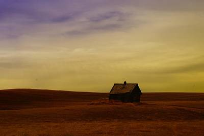 Little House On The Prairie  Art Print by Jeff Swan