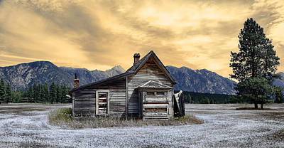 Photograph - Little House On The Prairie by Wayne Sherriff