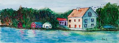 Little Houses  Art Print by Anais DelaVega