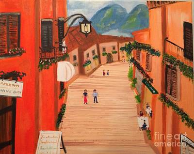Painting - Little Italian Town by Brindha Naveen