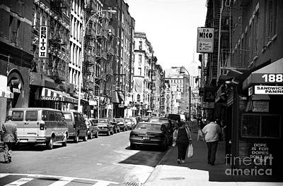 Photograph - Little Italy 1990s by John Rizzuto