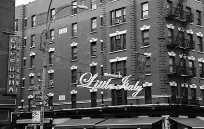 Photograph - Little Italy New York 1b by Andrew Fare