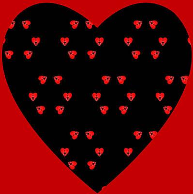 Art Print featuring the digital art Little Kaleidoscope Hearts by Pete Trenholm