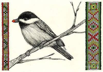 Geometrical Drawing - Little Kejegigi Bird by Christine Matha