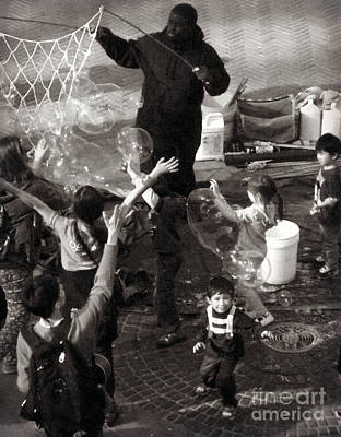 Photograph - Little Kids With Big Bubbles by Miriam Danar