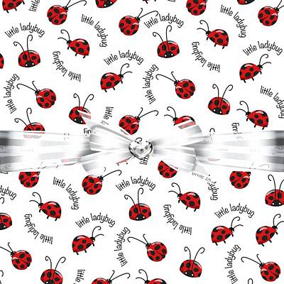 Ladybug Digital Art - Little Ladybug Treats by Debra  Miller