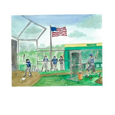 Painting - Little League Bp by Jeremiah Iannacci