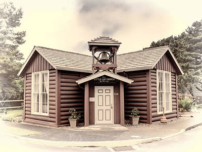 Photograph - Little Log Church by HW Kateley