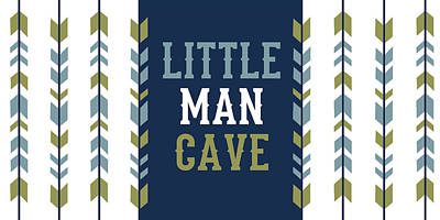 Man Cave Painting - Little Man Cave Arrows by Tamara Robinson