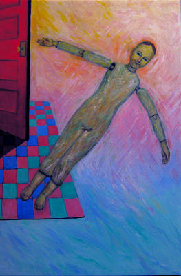 Painting - Little Man Number Five by Nancy Wait