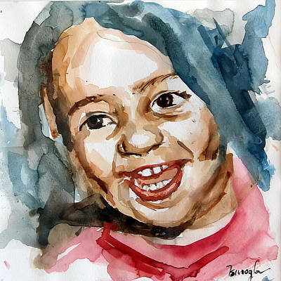Little Maria Art Print by Michael Tsinoglou
