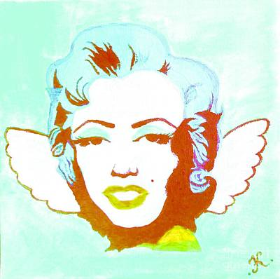 Marilyn Monroe Painting - Little Marilyn Baby Blue by Katya Tham