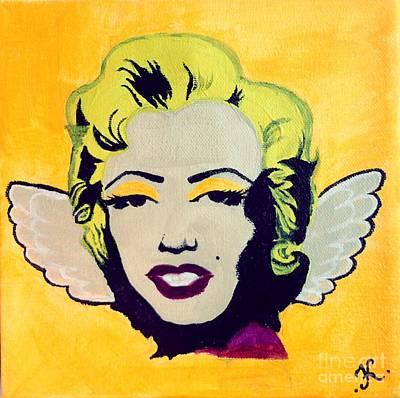 Angel Wings Painting - Little Marilyn Original by Katya Tham